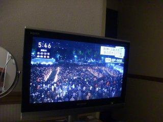 阪神淡路大震災から17年目の朝を宿で迎える。