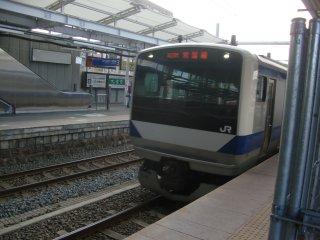 高萩行ローカル電車は最新鋭でした。