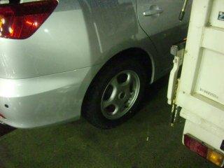 冬用タイヤが磨り減っていたので急遽交換。