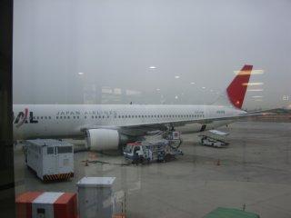 初の北海道へのフライトです。