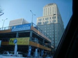 テレビ塔の隣にあるホテルに泊まりました。