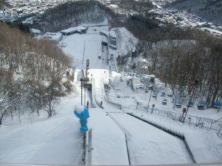 大倉山シャンツェ展望台からの眺めです。