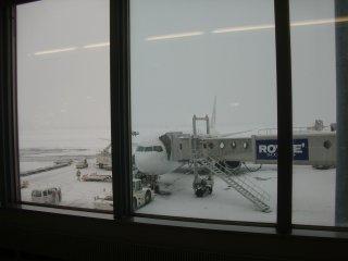 出発直前の大雪で30分近く遅れました。