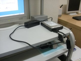 HDD本体は無傷なのでフォーマットして再利用。