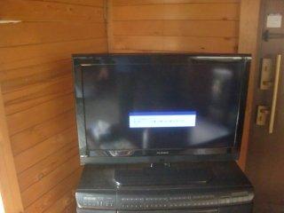 ログハウスの地デジテレビの映りが悪かったです。