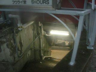 地下連絡通路も1967年当時のままでした。
