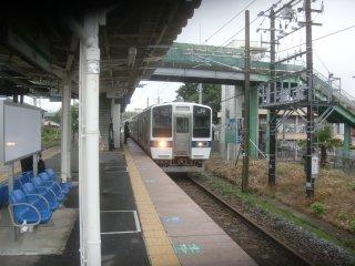 小木津から再び普通列車で水戸まで戻る。