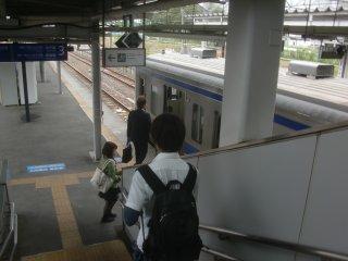 水戸−小山間は1時間に1本きりの水戸線に乗車。
