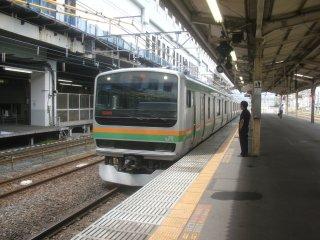 タクシー代節約の為、小山−間々田を東北本線に乗る。