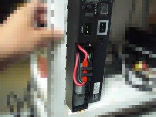 主用PCに用いるUPSをバッテリー交換。
