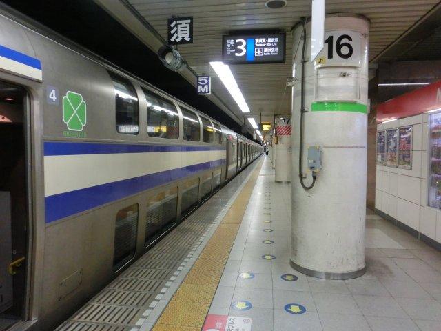 横須賀総武線快速に乗車。勿論普通席です。
