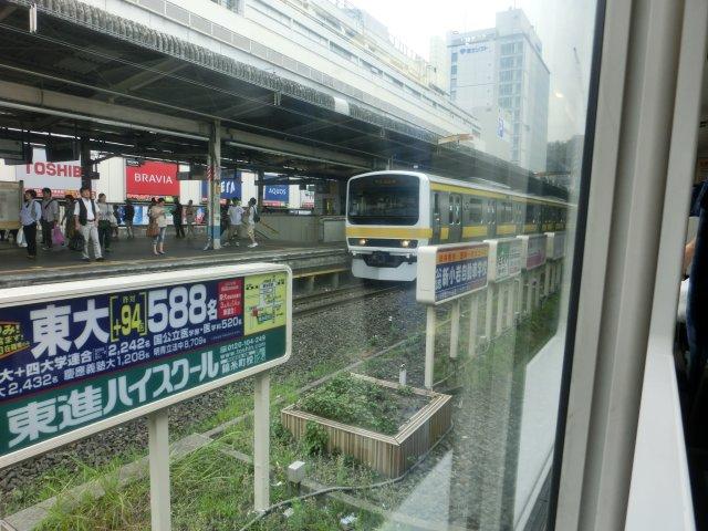 209−500なのかE231−500なのか形式が良く分からない総武線普通電車(錦糸町)。