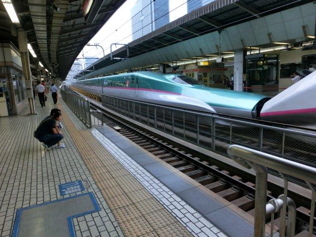 大人気の東北新幹線・E5系です(東京)。
