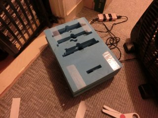ボックス扇風機の置き台を改善しました。