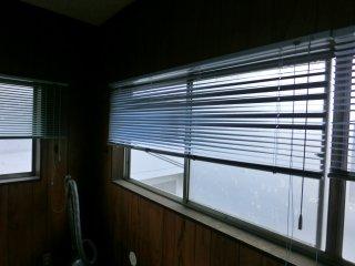 休憩室の窓が開けっ放しになっていました。