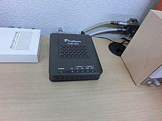 会社のケーブルモデムはFCM-160Jでバージョンアップされています。