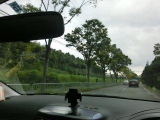 山田駅付近です。