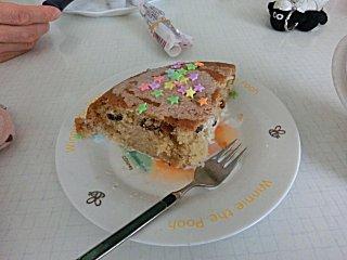 このレーズンケーキは砂糖ナシです。