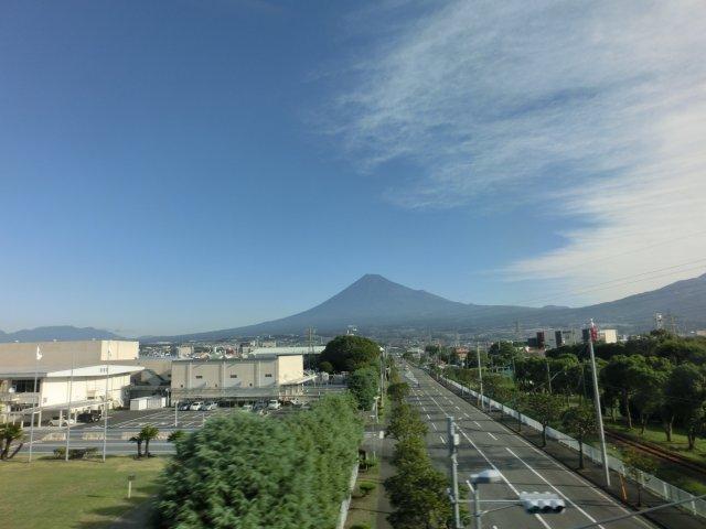 富士山がくっきり見えました。