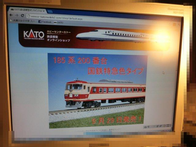 桶川駅で目撃した185系特急色の模型です。
