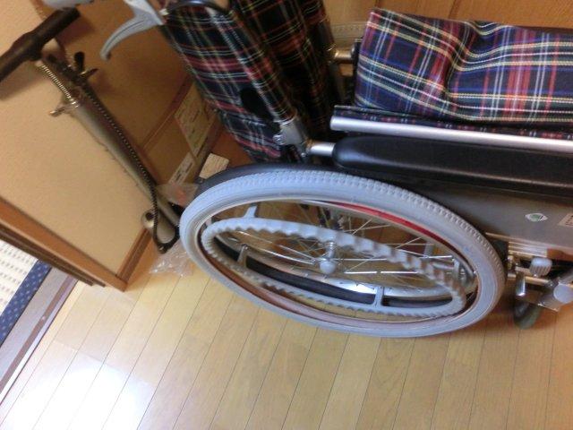 車椅子の修理に失敗。