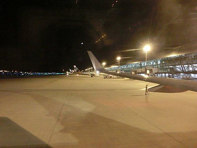 関西国際空港に到着しました。