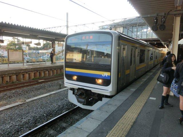 佐倉から成田線経由で我孫子まで出ました。