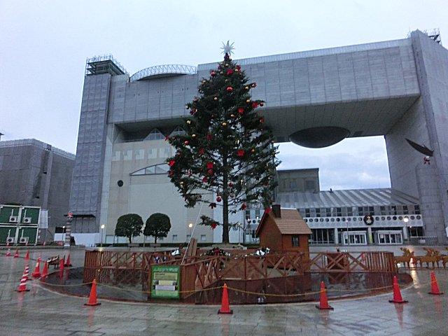 クリスマスの飾り付けがされていました。