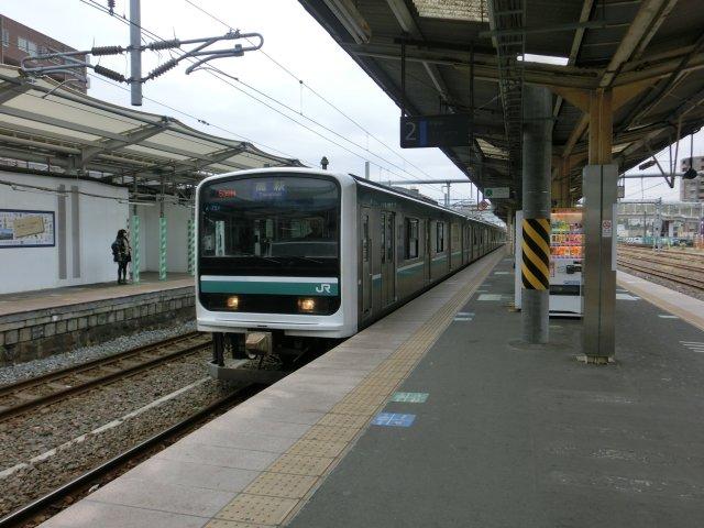 隣の小木津までローカル線に乗車しました。