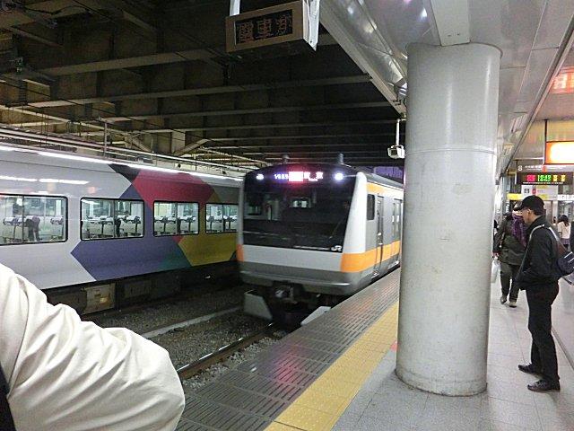 新宿から東京まで中央線快速に乗りました。