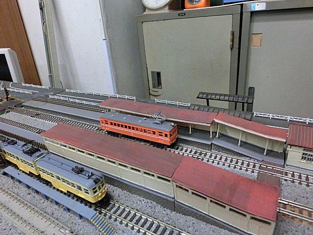 京阪60型と共に展示レイアウト上を走らせました。