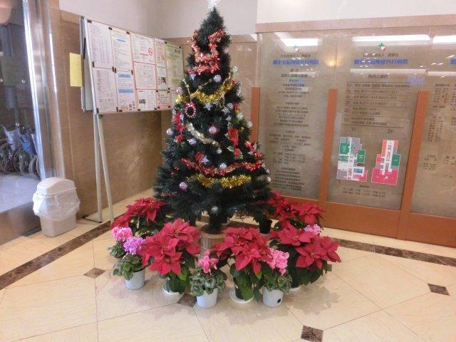 病院のクリスマスツリーです。