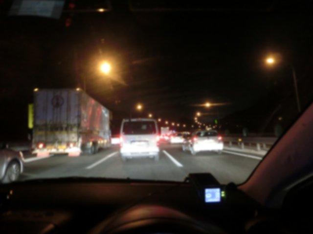帰りはいつもの渋滞に引っかかりました。
