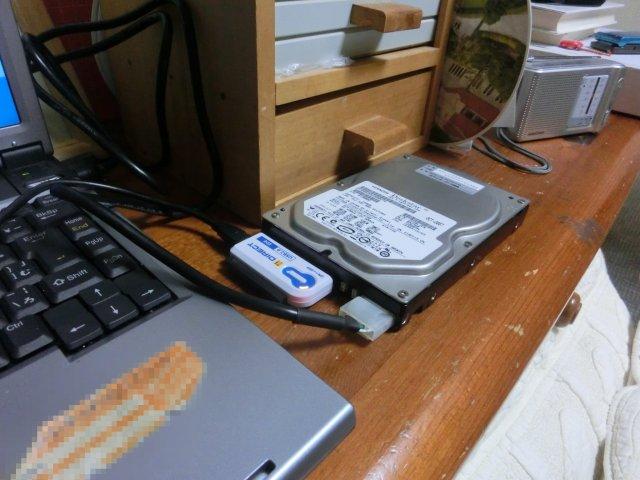 一旦通常のIDE-HDDにクローンコピーをしたが、これが立ち上がりませんでした。