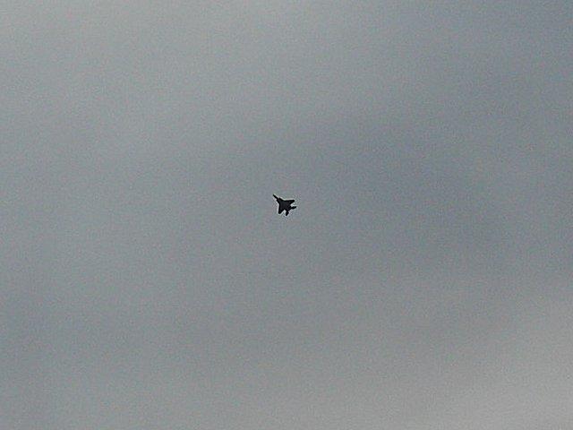 各務ヶ原基地を飛び立つF15戦闘機です。