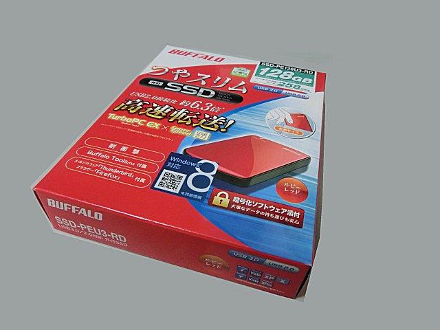 ヨドバシカメラで購入した外付けSSDです。