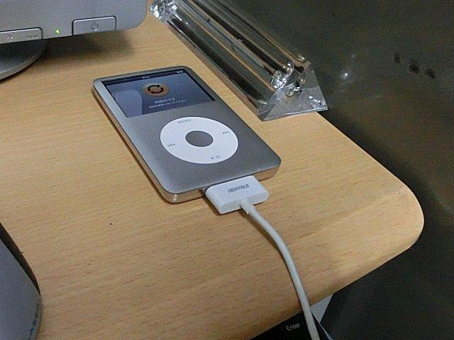 iPod classicにデータ再転送(同期)します。