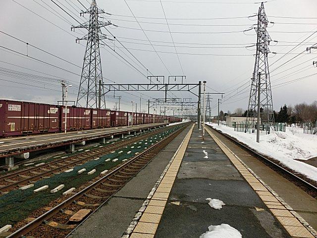 コンテナ貨物列車です。