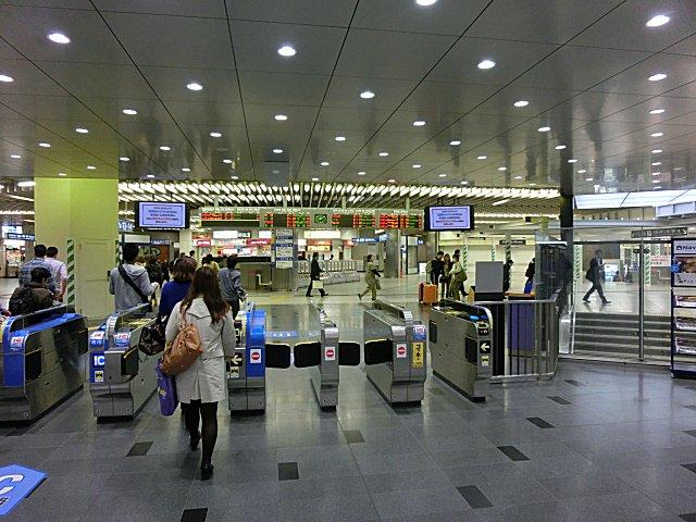 新大阪の在来線改札口です。