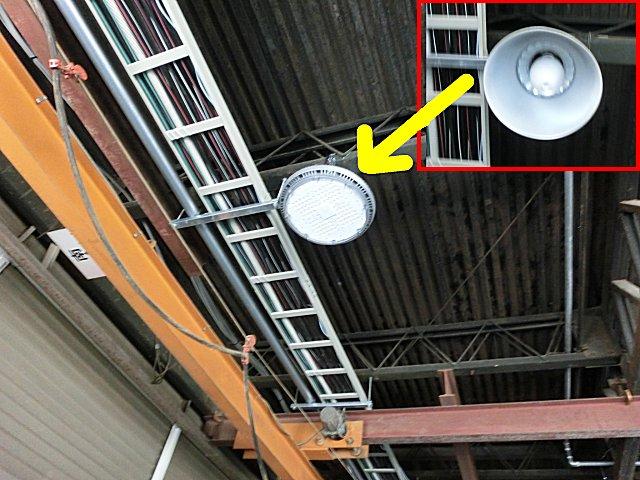 水銀灯をLED式に入れ替え。