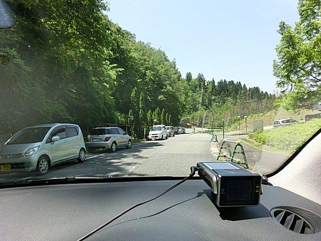 兵庫県立大学の学生のクルマの路駐です。
