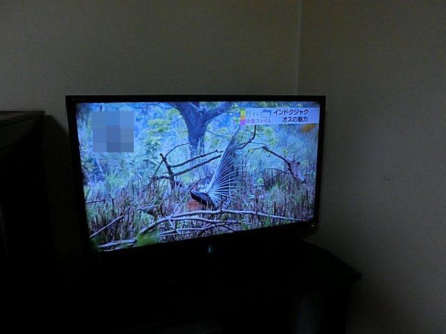 実家寝室のテレビです。