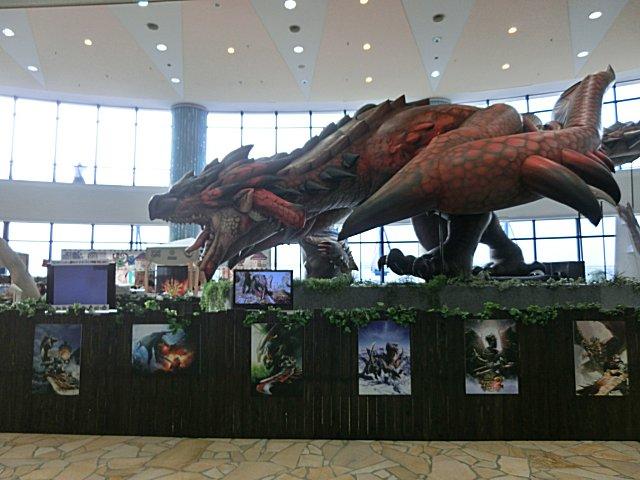 お台場の巨大恐竜フィギュアです。