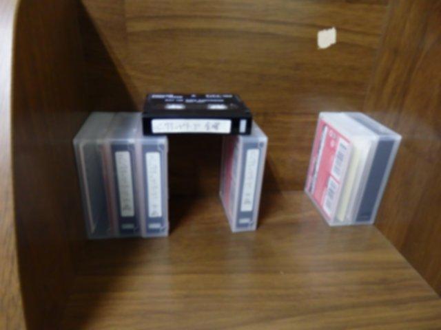 長くデッキ内にあったDATテープを干しました。