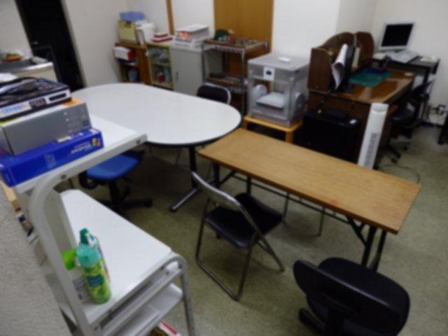明日の検診の準備が整った多目的室です。