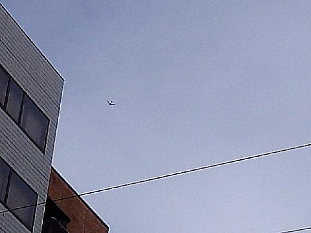 B747が飛翔。