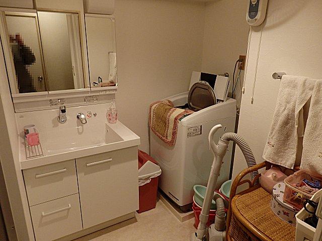 リフォームして新しくなった洗面室です。
