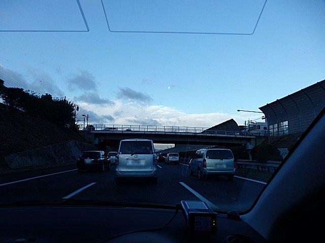 久々の中国道の渋滞です。