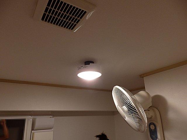 洗面所のLED電球を薄型に交換しました。