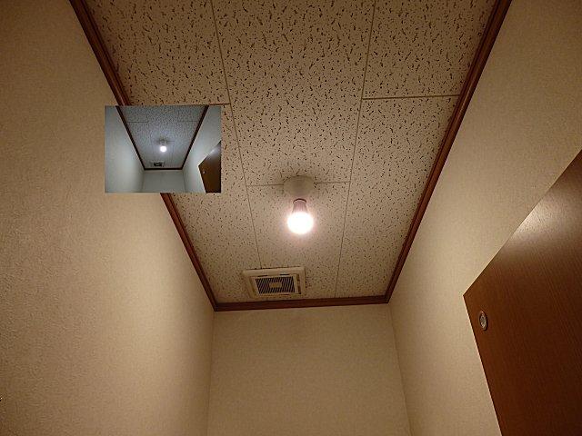 洗面所のLED球は会社2階トイレに廻しました。